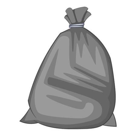bag of soil: Garbage bag icon. Cartoon illustration of garbage bag vector icon for web