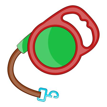 Retractable leash for dog icon. Cartoon illustration of retractable leash for dog vector icon for web Illustration