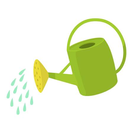 Watering can icon. Cartoon illustration of watering can vector icon for web design Vetores