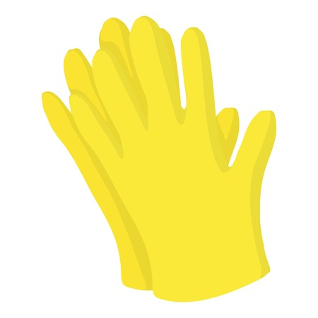 Garden gloves icon. Cartoon illustration of garden gloves vector icon for web design Illustration