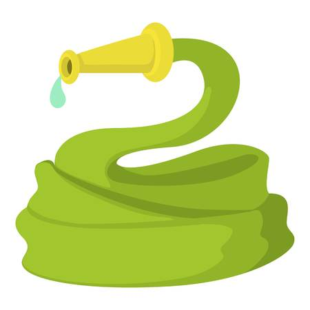 Garden hose icon. Cartoon illustration of garden hose vector icon for web design