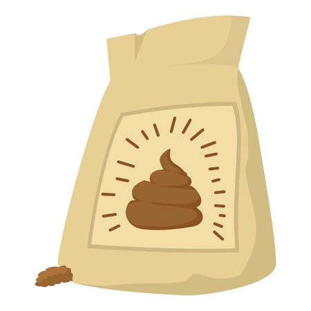 compost: Fertilizer bag icon. Cartoon illustration of fertilizer bag vector icon for web design Illustration