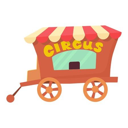 Circus wagon icon. Cartoon illustration of circus wagon vector icon for web design Illustration