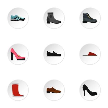 loafer: Shoes icons set. Flat illustration of 9 shoes vector icons for web Illustration
