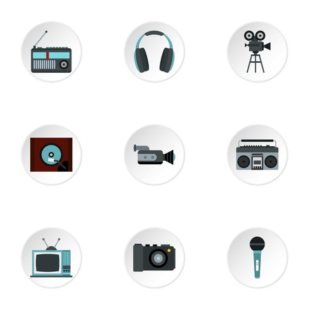 electronic devices: Electronic devices icons set. Flat illustration of 9 electronic devices vector icons for web Illustration