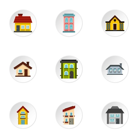 residence: Residence icons set. Flat illustration of 9 residence vector icons for web