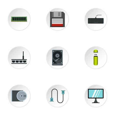 computer repair: Computer repair icons set. Flat illustration of 9 computer repair vector icons for web