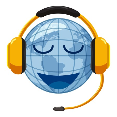 talking dictionary: Translate world icon. Cartoon illustration of translate world vector icon for web design