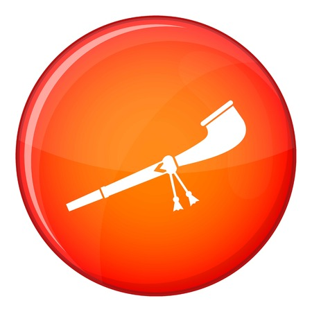 Retro smoking pipe icon in red circle isolated on white background vector illustration