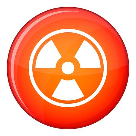 caution chemistry: Danger nuclear in simple style isolated on white background vector illustration Illustration