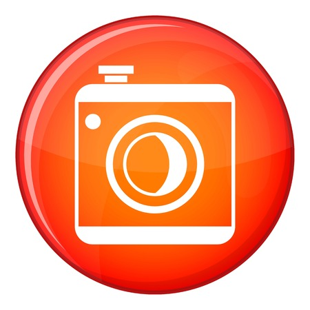 Vintage photo camera social network isolated on white background