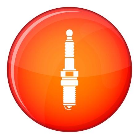 Icône de bougie de voiture en cercle rouge isolé sur illustration vectorielle fond blanc Vecteurs