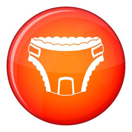 Baby diaper icon in red circle isolated on white background vector illustration Illustration