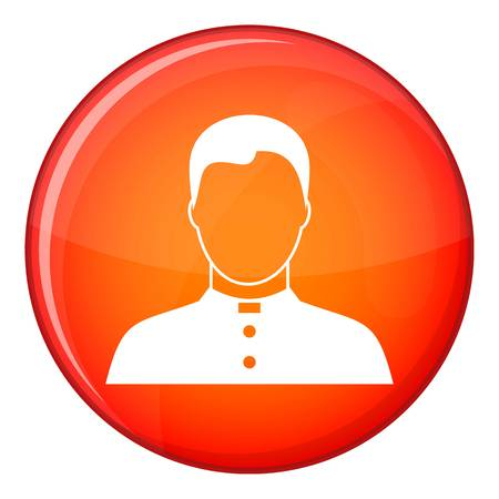 Pastor icon in red circle isolated on white background vector illustration