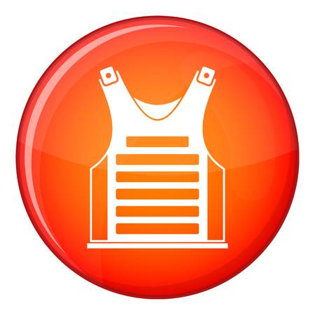 Paintball vest icon in red circle isolated on white background vector illustration