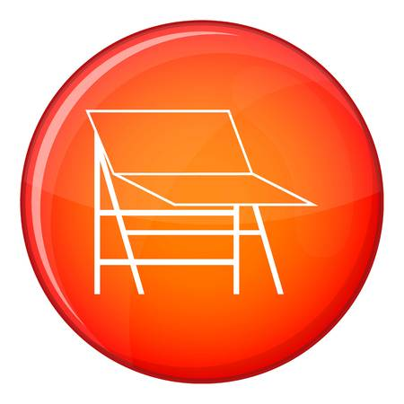 tubus: Blank portable screen icon in red circle isolated on white background vector illustration