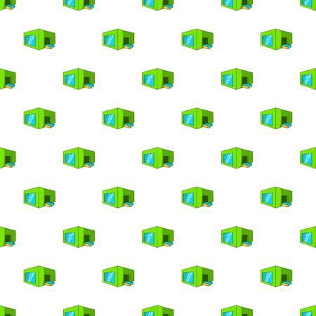 sorting: Beer sorting plant pattern. Cartoon illustration of beer sorting plant vector pattern for web Illustration