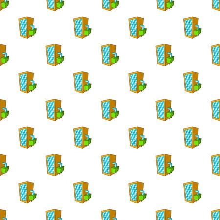 spilling: Machine spilling beer pattern. Cartoon illustration of machine spilling beer vector pattern for web Illustration