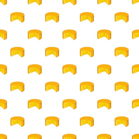 Cheese pattern. Cartoon illustration of cheese vector pattern for web