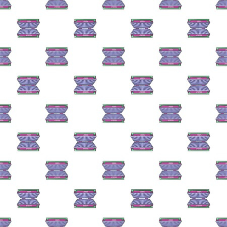 stove top: Electric grill pattern. Cartoon illustration of electric grill vector pattern for web Illustration