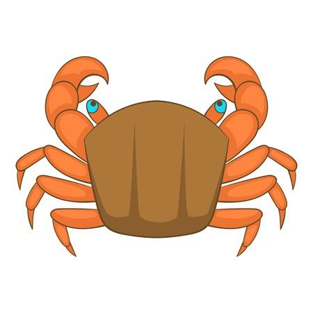 Crab icon. Cartoon illustration of crab vector icon for web design