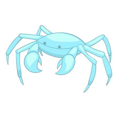 Sea crab icon. Cartoon illustration of crab vector icon for web design