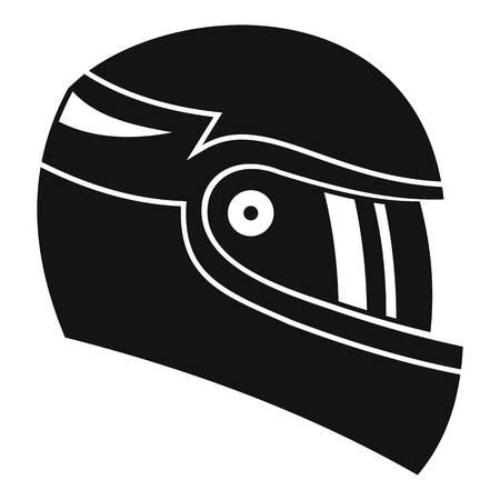 Racing helmet icon. Simple illustration of racing helmet vector icon for web Illustration