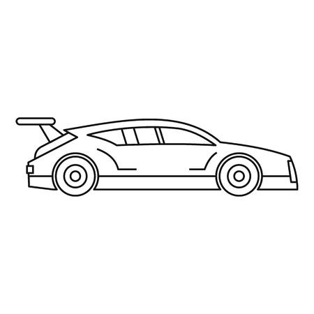 bolide: Racing car icon. Outline illustration of racing car vector icon for web