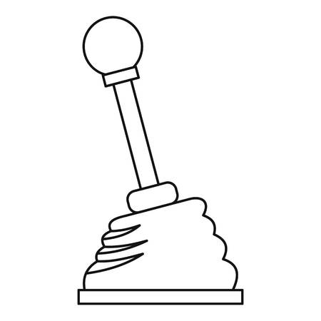 shifter: Car gear stick icon. Outline illustration of car gear stick vector icon for web Illustration