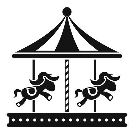 merry go round: Merry go round horse ride icon. Simple illustration of merry go round horse ride vector icon for web