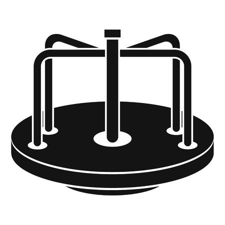 Children merry go round icon. Simple illustration of children merry go round vector icon for web Illustration