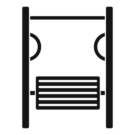 simulator: Playground simulator icon. Simple illustration of playground simulator vector icon for web