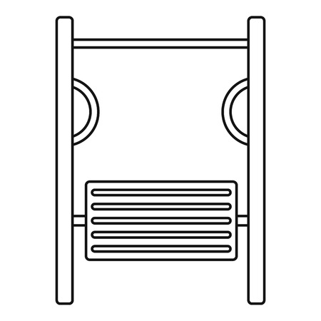 simulator: Playground simulator icon. Outline illustration of playground simulator vector icon for web Illustration