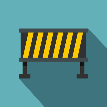 Safety barricade icon. Flat illustration of safety barricade vector icon for web isolated on baby blue background