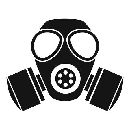 nuclear fear: Chemical gas mask icon. Simple illustration of chemical gas mask bread vector icon for web Illustration