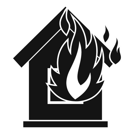 ruined house: Preventing fire icon. Simple illustration of preventing fire vector icon for web