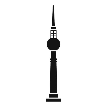 cell phone transmitter tower: Tower icon. Simple illustration of tower vector icon for web