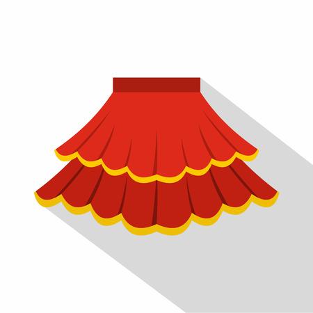 frill: Skirt icon. Flat illustration of skirt vector icon for web