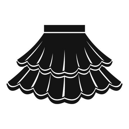 mini skirt: Skirt icon. Simple illustration of skirt vector icon for web Illustration