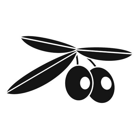 mediterranean diet: Olives icon. Simple illustration of olives vector icon for web