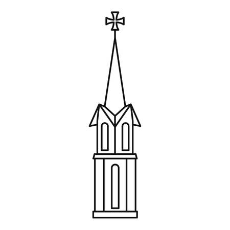 place of worship: Church icon. Outline illustration of church vector icon for web Illustration