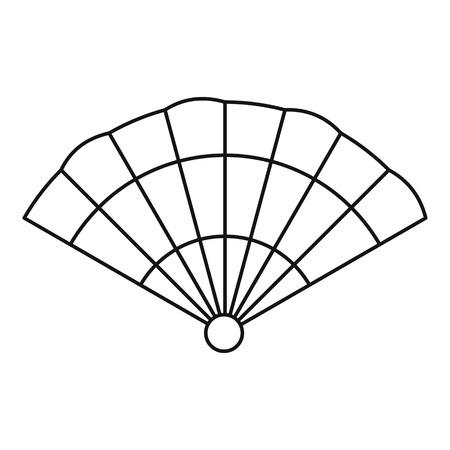 hand outline: Fan icon. Outline illustration of fan vector icon for web Illustration