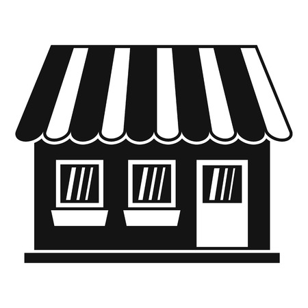 Shop icon. Simple illustration of shop vector icon for web