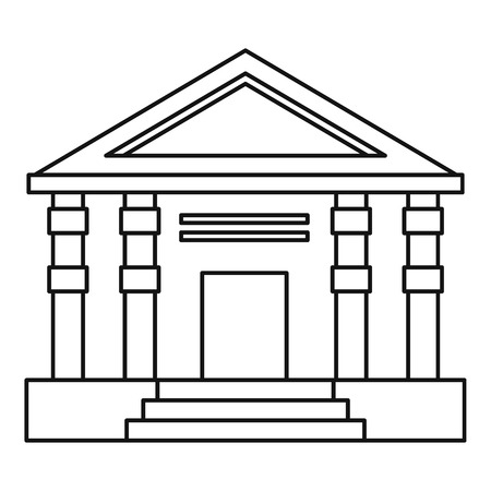 doric: Colonnade icon. Outline illustration of colonnade vector icon for web Illustration