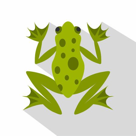 icono de la rana. ilustración plana del icono del vector de la rana para la web