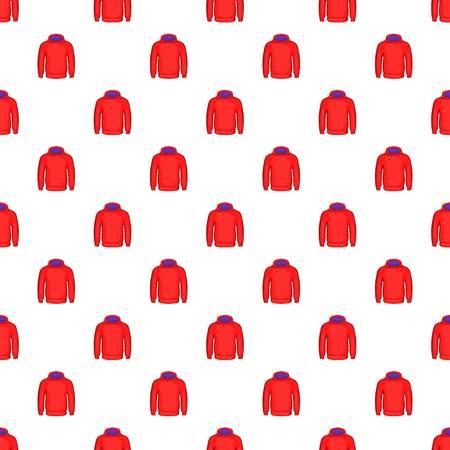 Men winter sweatshirt pattern. Cartoon illustration of men winter sweatshirt vector pattern for web