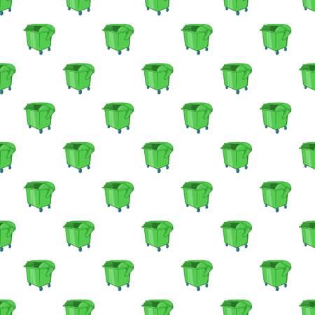 dumpster: Dumpster pattern. Cartoon illustration of dumpster vector pattern for web