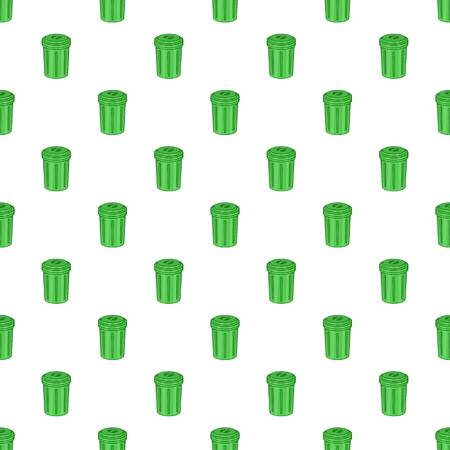 can pattern: Trash can pattern. Cartoon illustration of trash can vector pattern for web Illustration