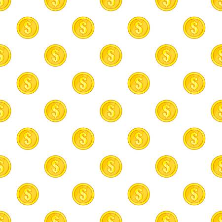 Coin pattern. Cartoon illustration of coin vector pattern for web