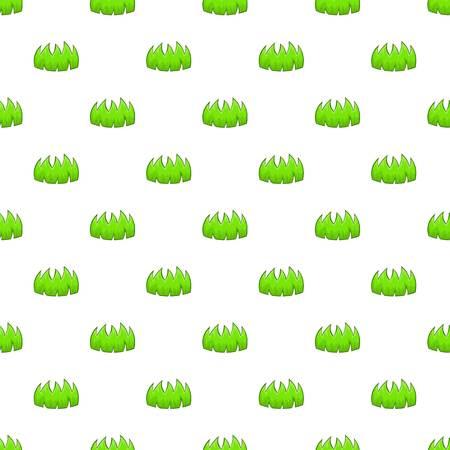 bushes: Bushes pattern. Cartoon illustration of bushes vector pattern for web